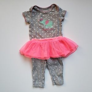 "[Carter's] 3 mo ""Mommy's Girl"" Elephant Tutu Set"